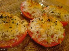 トマトのパン粉焼き~♪