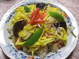 鮭フレークの散らし寿司