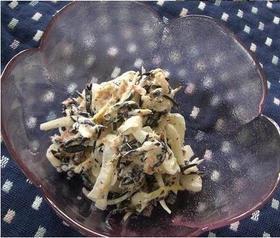 新玉ねぎとツナとひじきの簡単サラダ