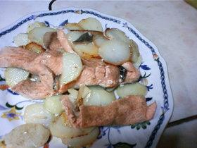 ふわふわ鮭とポテトのバター焼き