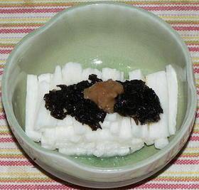 山芋短冊と自家製梅海苔ソース