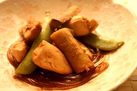 鶏とごぼうのさっぱりこっくり梅酢煮