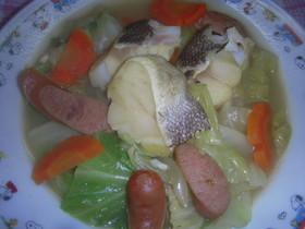 鱈と春キャベツのカレースープ煮