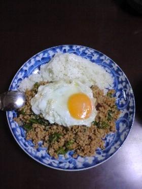 簡単材料モンスーンカフェのガパオ炒めご飯