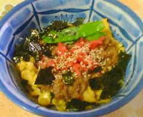 豆腐と合挽きミンチのヘルシーそぼろ丼
