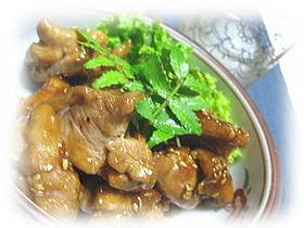 鶏もも肉の照り焼き・柚子胡椒風味
