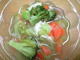 野菜たっぷり♪ チキンスープ
