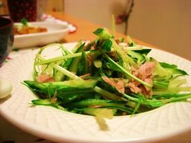 水菜ときゅうりのツナサラダ