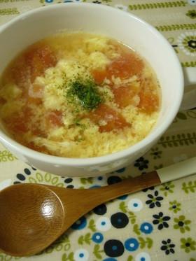 簡単!トマト入り洋風かき玉スープ