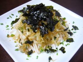 韓国海苔とじゃこの大根サラダ