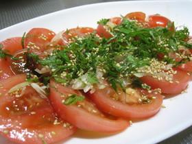 ♪甘酢ドレッシングでトマト♪