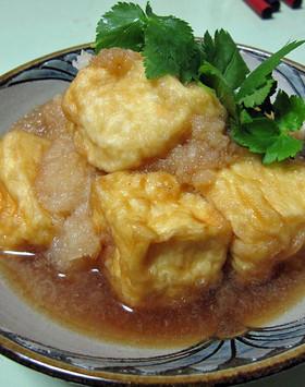 おろしでさっぱり☆とろける揚げ出し豆腐