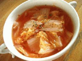 白菜のトマトスープ・バジル風味