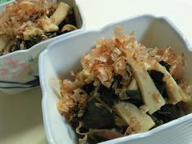 レンジで8分♪蕗の葉と高野豆腐の煮浸し