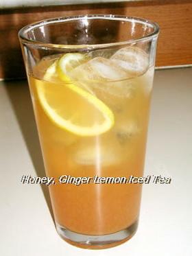 蜂蜜生姜レモンアイスティー