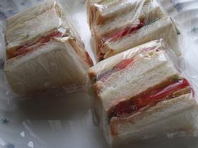 少し立体的に見えるサンドイッチの切り方♪