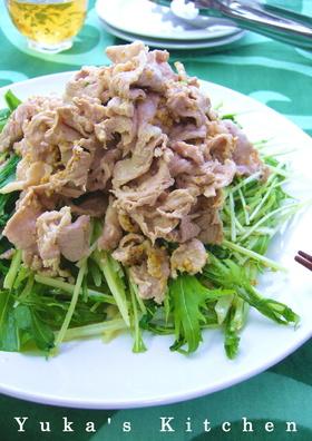 豚しゃぶと水菜のごまマヨぽん酢がけ