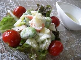 そら豆が美味しい旬野菜のポテトサラダ