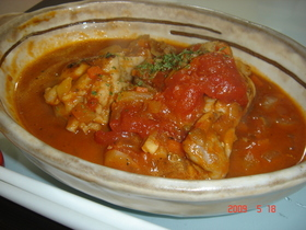 フライパンで☆チキンのトマト煮