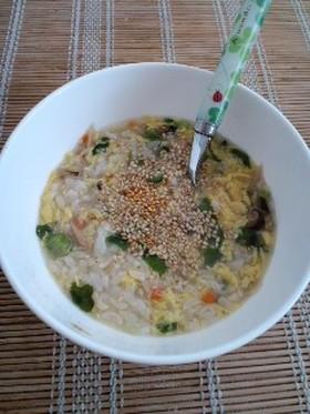 ☆ごぼうチャーハンでふんわりスープ飯☆