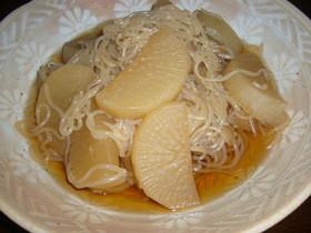 大根と糸コンの煮物