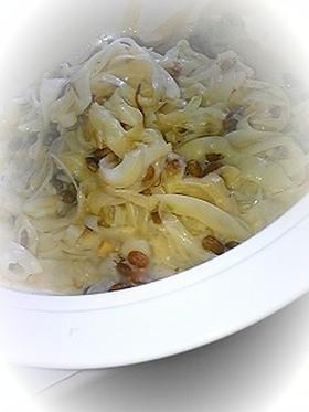 玉ねぎ納豆(新たまねぎは絶品でした)