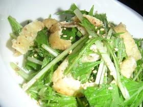 すぐできる水菜と油揚げの和風サラダ