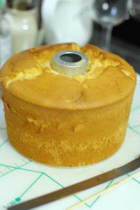 いよかんピールのシフォンケーキ