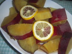 薩摩芋の蜂蜜レモン煮