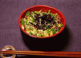 サーディンの水煮缶で即席ぷちDON (丼)!!