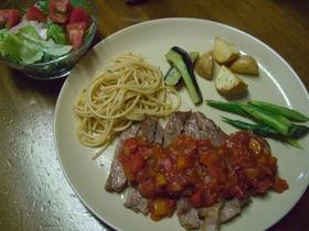 豚肩ロース肉&トマトソース