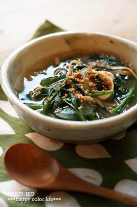 具だくさん!中華風食べるスープ★