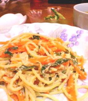 味噌豆乳の和風スパゲティ