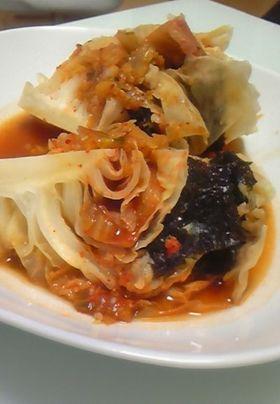 キャベツと豚バラの韓国風煮込み
