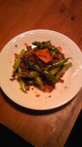 夏野菜とひき肉の香味炒め
