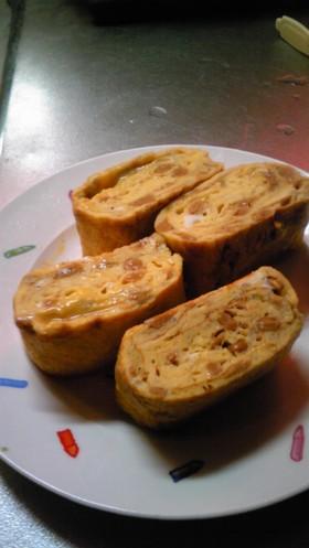 納豆マヨネーズのたまご焼き