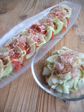 加賀太きゅうり(または冬瓜)のサラダ