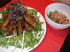 秋刀魚缶のサラダ
