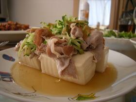 5分レシピ!豚しゃぶ豆腐