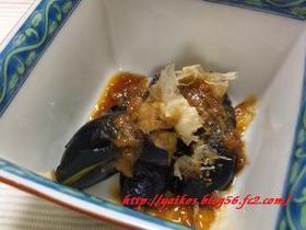 揚げ茄子の梅肉ポン酢