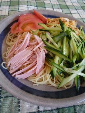 思い立ったら 冷やし中華風スパゲッティー