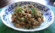 大豆とカリカリじゃこの焼き飯の写真