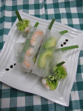 野菜たっぷりアジアン生春巻き