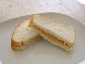 クリーミーなピーナッツバターサンド