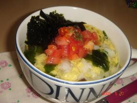 のりトマ☆スープ飯