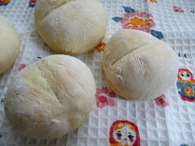 材料2つ!発酵なし!もっちり白パン