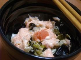 高菜と明太マヨ混ぜご飯☆