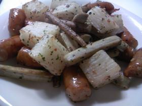 新ごぼうと長芋のオリーブオイル炒め