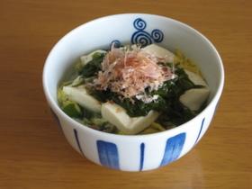 豆腐&めかぶ スープ飯
