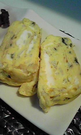 しらすと大葉入りの卵焼き